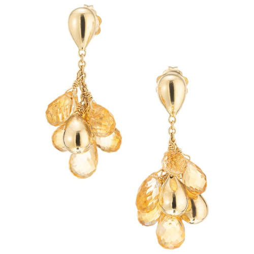 Marco Bicego 10.00 Carat Citrine Yellow Gold Paradise Dangle Drop Earrings