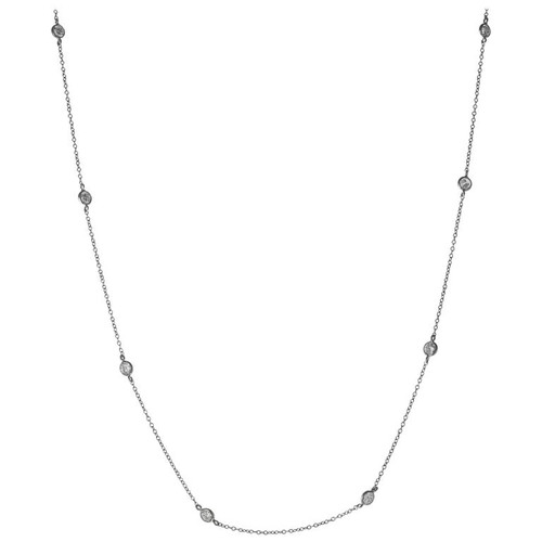 Peter Suchy 1.40 Carat Diamond by the Yard White Gold Necklace