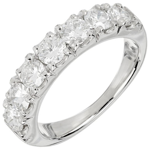 Peter Suchy 1.37 Carat Diamond Platinum Wedding Band Ring