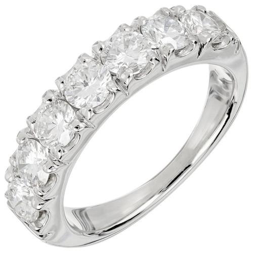 Peter Suchy 1.37 Carat Diamond Platinum Wedding Band Ring