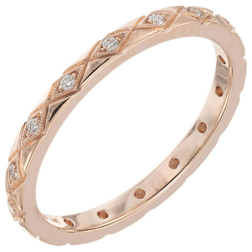Peter Suchy .9 Carat Diamond Rose Gold Eternity Wedding Band Ring