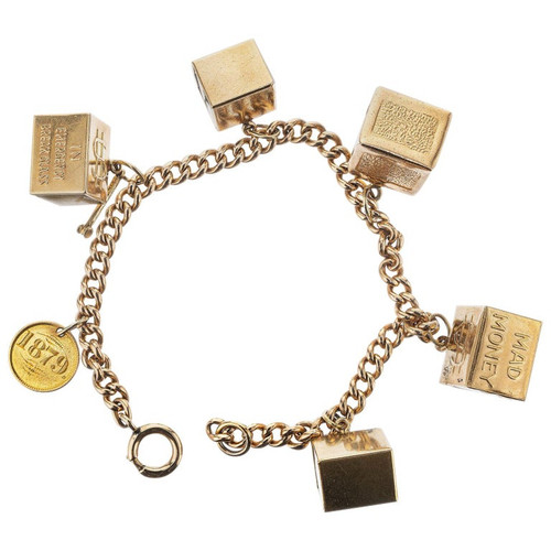 Yellow Gold Mad Money Charm Bracelet