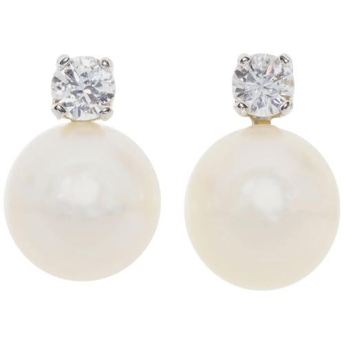 .24 Carat Diamond Akoya Pearl Earrings