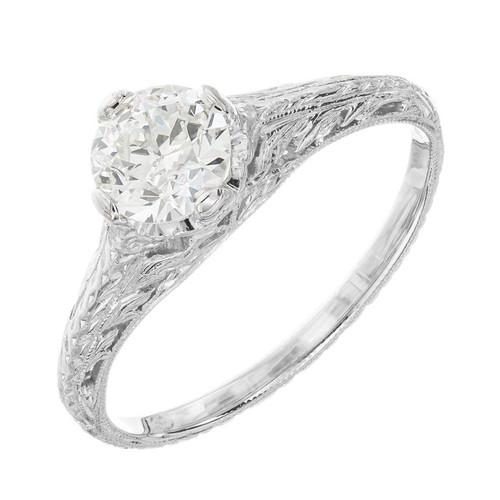 EGL Certified .63 Carat Diamond Platinum Engagement Ring