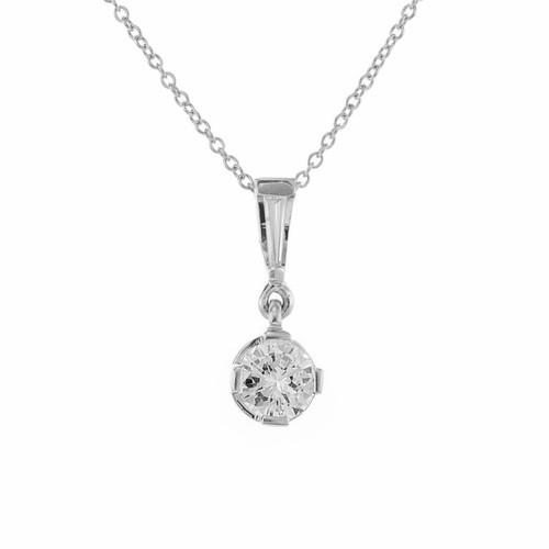 EGL Certified .68 Carat Diamond Platinum Pendant Necklace
