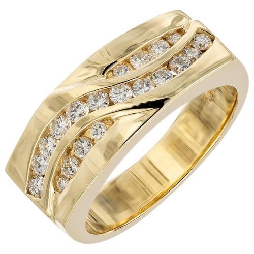.60 Carat Diamond Yellow Gold Band Ring