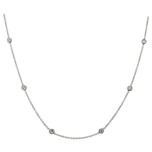 .60 Carat Diamond White Gold by the Yard Necklace