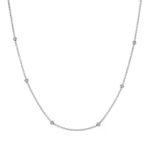 .30 Carat Diamond White Gold Diamond by the Yard Necklace
