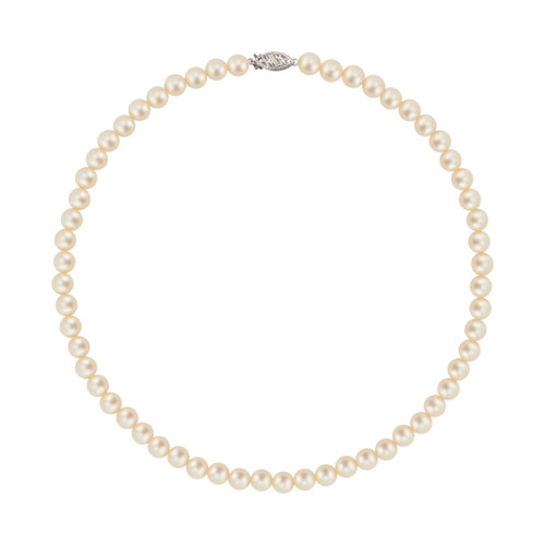 Japanese Cultured Pearl White Gold Necklace