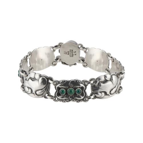 George Jensen Agate Sterling Silver Bracelet