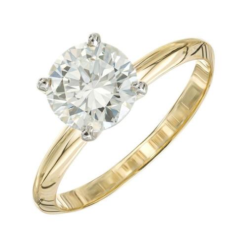 Peter Suchy 1.51 Carat Diamond Yellow Gold Engagement Ring