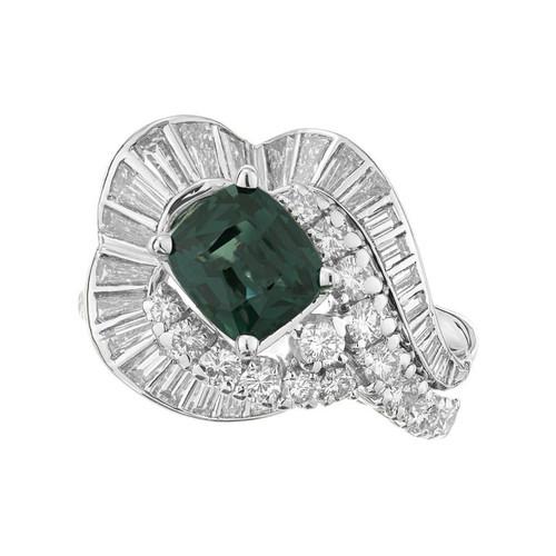 J.E. Caldwell GIA Certified 1.63 Carat Sapphire Diamond Platinum Cocktail Ring