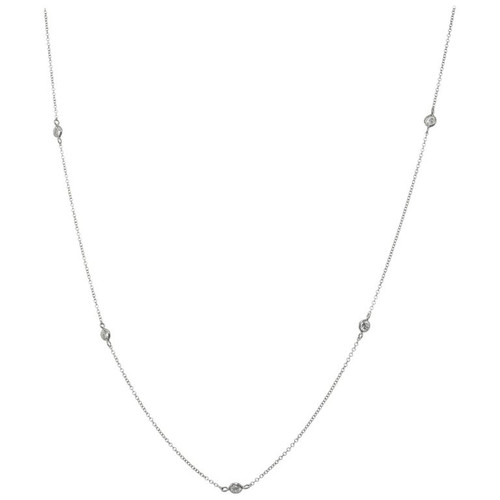 Peter Suchy .55 Carat Diamond White Gold by the Yard Necklace
