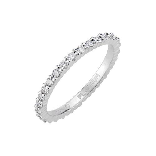 Jeff Cooper .55 Carat Diamond Platinum Eternity Band Ring