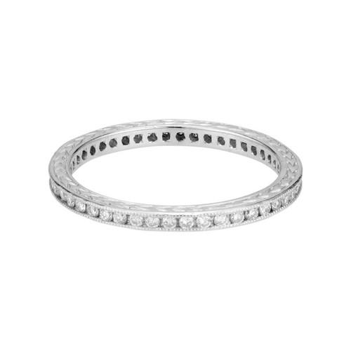Peter Suchy .45 Carat Diamond Platinum Eternity Wedding Band Ring