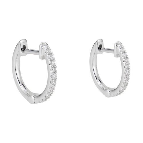 .13 Carat Diamond White Gold Huggie Earrings