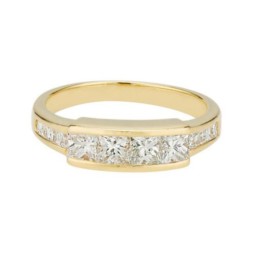 .84 Carat Diamond Yellow Gold Channel Set Wedding Band Ring