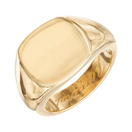 Baccarat Yellow Gold Signet Ring