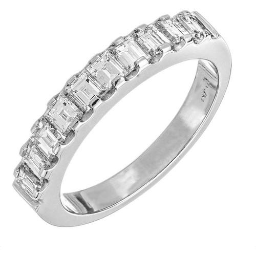 .75 Carat Diamond Platinum Art Deco Style Wedding Band Ring