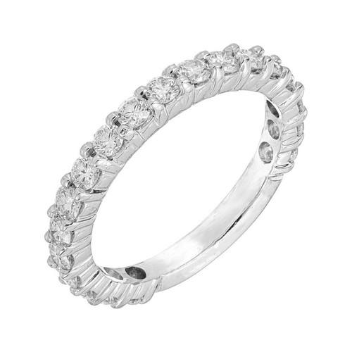 .76 Carat Diamond White Gold Common Prong Wedding Band Ring