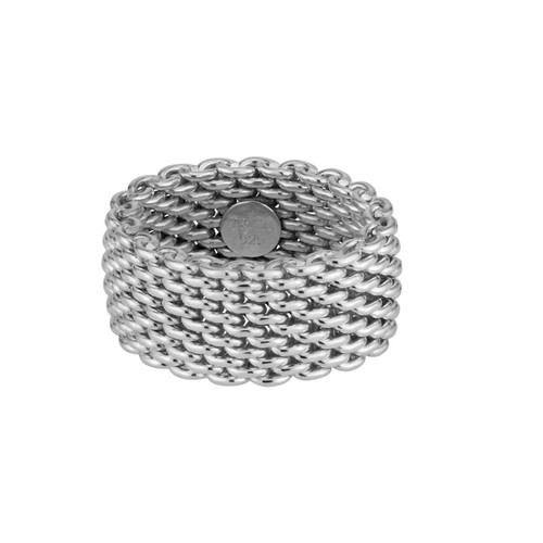 Tiffany & Co. Somerset Sterling Silver Mesh Ring