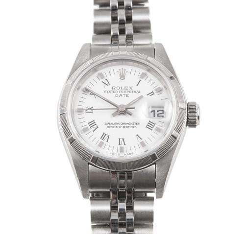 Ladies Rolex Steel Date 79190 White Dial