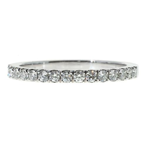 Wedding Band .40ct Diamond Platinum Groove Set Ring