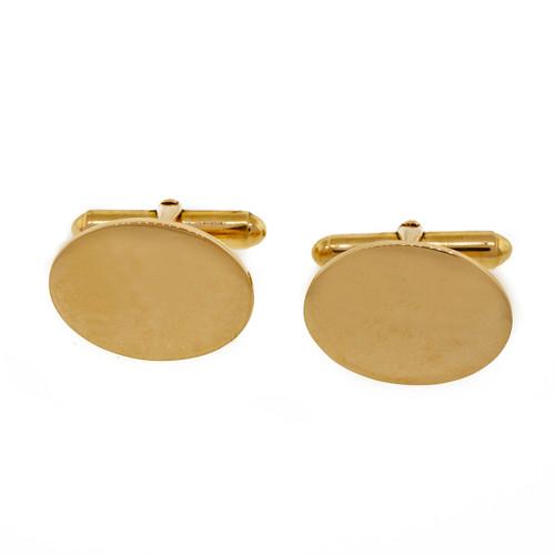 Vintage 1950 Larter & Sons 14k Yellow Gold Cufflinks Oval