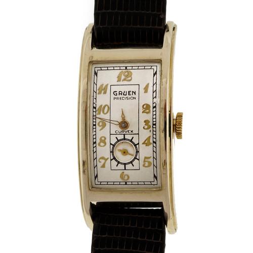 1930 Art Deco Curvex 330 14k Yellow Gold Watch