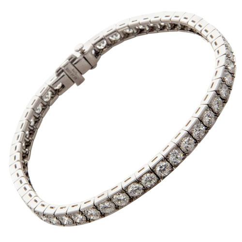 Vintage Art Deco 1930 Platinum Line Bracelet 8.50ct Of Extra High Grade Diamonds