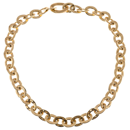 Pomellato Graduated Oval Link 18k Solid Gold Necklace
