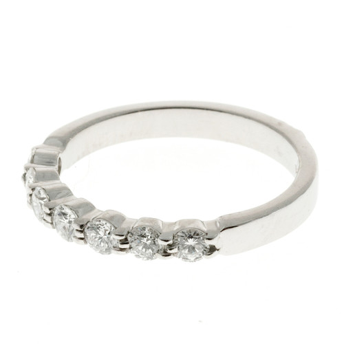 Vintage New Die Struck Common Prong .56CT Ideal Cut Diamond Ring Size 7