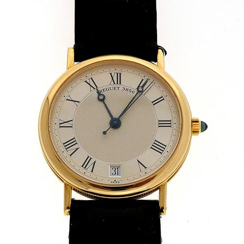 Vintage Brequet 18k 3856 Reference 3325 Men's Wrist Watch