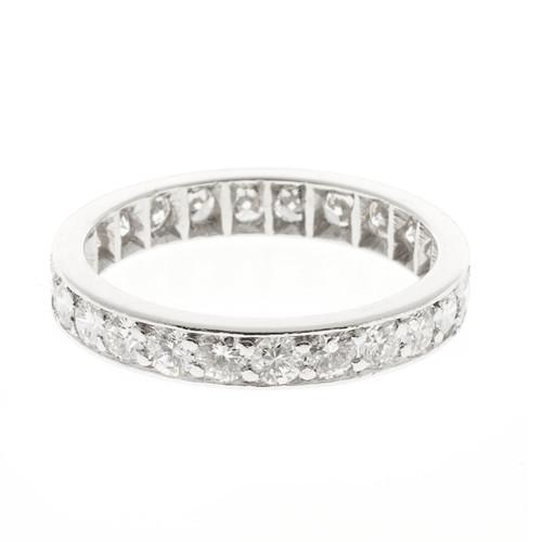 Peter Suchy Full Cut Diamond Platinum Flat Bead Set Band Ring