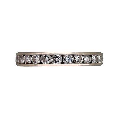 Vintage 25 Diamond 1.75ct Size 6 14k White Gold Die Struck Diamond Eternity Ring