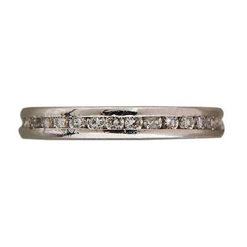 Vintage Designer Ogi Sz 5 Platinum 34 Full Cut Diamond .34ct Eternity Band Ring