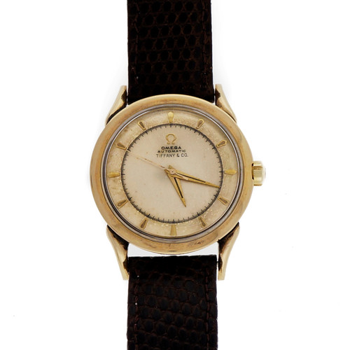 1960 Tiffany & Co Omega Gold Filled Top Steel Back Bumper Automatic 351