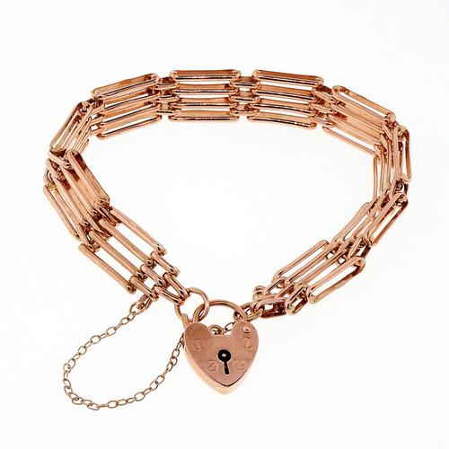 Rose Gold Antique English Gate Bracelet