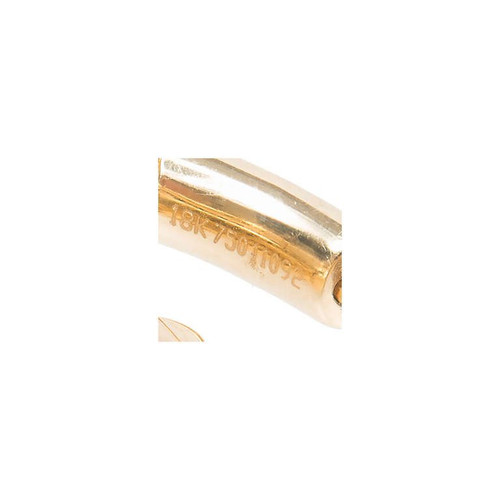 2.75ct Round GP 18k Yellow Gold Inside Out Diamond Hoop Earrings