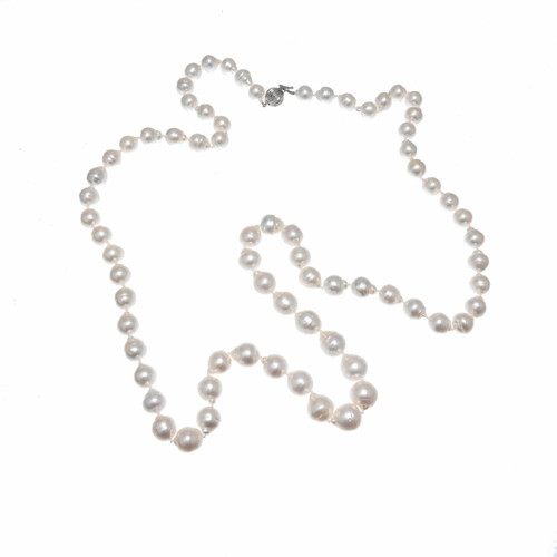 South Sea Baroque Cultured Pearl White Gold Necklace