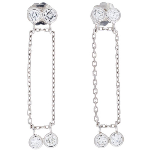 Peter Suchy .65 Carat Diamond White Gold Dangle Drop Earrings