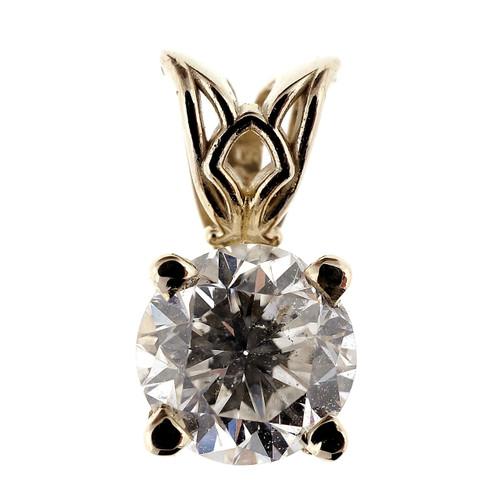 .72 Carat Diamond White Gold Pendant