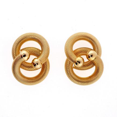 Brev Italian 14k Rose Gold Swirl Earrings