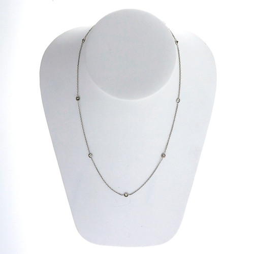 1.07 Carat  Pink Brown Diamond White Gold By the Yard Necklace