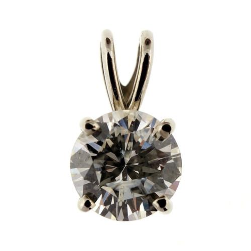 .88 Carat Diamond White Gold Pendant