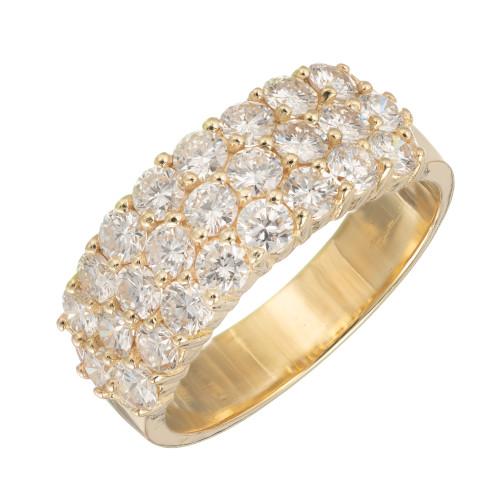 1.50 Carat Diamond Yellow Gold Wedding Band Ring