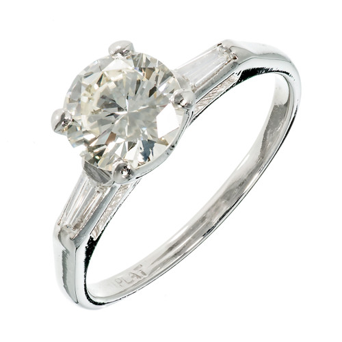 Art Deco 1.52 Carat Diamond Platinum Engagement Ring