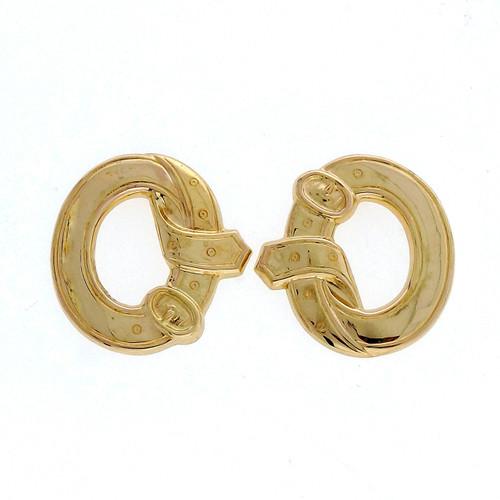 Victorian Yellow Gold Buckle Earrings