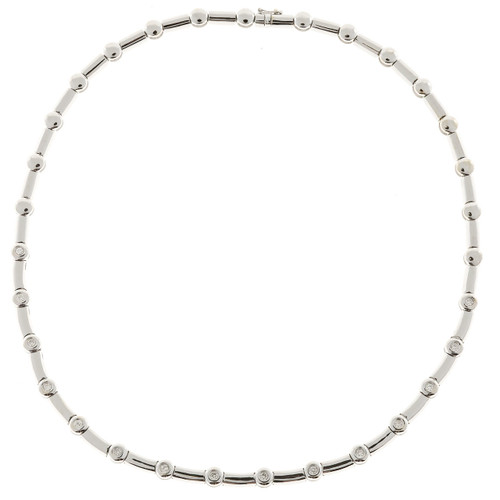 .75 Carat Diamond White Gold  White Gold Diamond Necklace