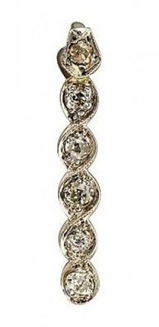 Estate 1890 Old Mine Cut 6 Diamond Infinity Or Swirl Design Platinum Pendant